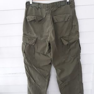 Vintage Army Green Cargo Trousers  / Reg Small